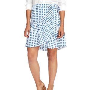 NEW Vineyard Vines Painterly grid wrap skirt, sz M